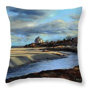 Good Harbor Beach Gloucester Throw Pillow