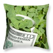 Good Luck And Money Throw Pillow