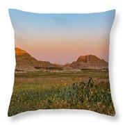 Good Morning Badlands II Throw Pillow
