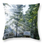 Good Morning Campers Throw Pillow
