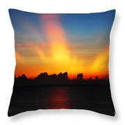 Good Morning Fort Laurderdale Throw Pillow