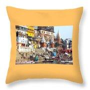 Good Morning Ganga Ji 2 Throw Pillow
