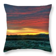 Good Morning Jackson Hole Throw Pillow