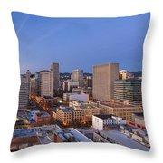 Good Morning Portland II Throw Pillow