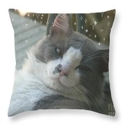 Good Morning Starshine Throw Pillow by Jacquelyn Roberts