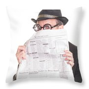 Good News Throw Pillow by Edward Fielding