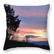 Good Night Blue Ridge Throw Pillow