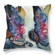 Cowboy Boots In Watercolor Good Ride Throw Pillow