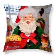 Good Time Santa Throw Pillow