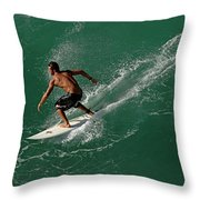 Good Waves Good Body Throw Pillow