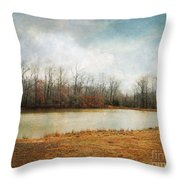 Goodbye Autumn Throw Pillow by Jai Johnson