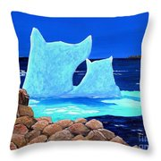 Goodbye Greenland Throw Pillow