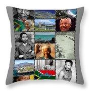 Goodbye Madiba Throw Pillow