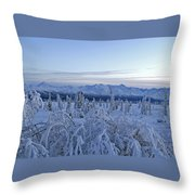 Goodnight Chugach Throw Pillow