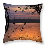 Goodnight Lake Throw Pillow by Cindy Greenstein