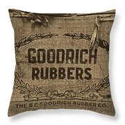 Goodrich Rubbers Boot Box Throw Pillow