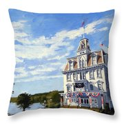 Goodspeed Opera House East Haddam Connecticut Throw Pillow