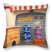 Goofy Water Disneyland Toontown Throw Pillow