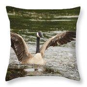 Goose Action Throw Pillow