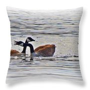 Goose Crossing Throw Pillow