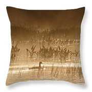 Goose Of The Mist Throw Pillow