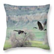 Goose Pair 1 Throw Pillow