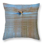 Goose Ripples Throw Pillow