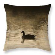 Goose Silhouette Throw Pillow