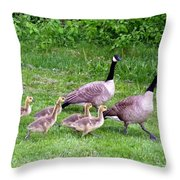 Goose Step Throw Pillow by Will Borden