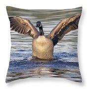 Gooseflapping 3 Throw Pillow
