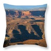 Goosenecks State Park Throw Pillow