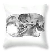 Gopher Skull Throw Pillow
