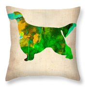 Gordon Setter Poster 2 Throw Pillow by Naxart Studio