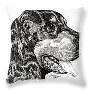 Gordon Setter Throw Pillow