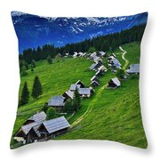 Goreljek Shepherding Village In Alpine Throw Pillow