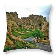 Goreme Open Air Musuem With Six Early Christian Churches In Capp Throw Pillow