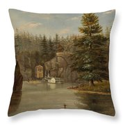 Gorge Of The St Croix Throw Pillow by Henry Lewis