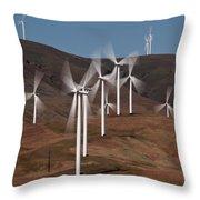 Gorge Windmills Throw Pillow