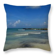 Gorgeous Beach In Aruba Throw Pillow