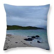 Gorgeous Coral Beach On Skye In Scotland Throw Pillow