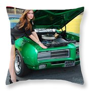 Gorgeous Green Goat Gto Throw Pillow
