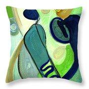 Gorgeous In Green Throw Pillow