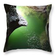 Gorges Du Fier Throw Pillow