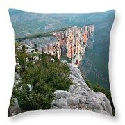 Gorges Du Verdun Throw Pillow