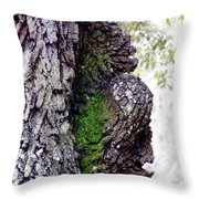 Gorilla Face In The Tree Throw Pillow