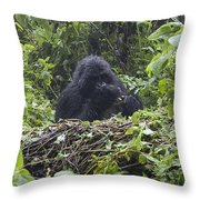 Gorilla In Our Midst Throw Pillow