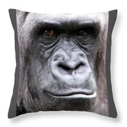 Gorilla - Jackie Throw Pillow