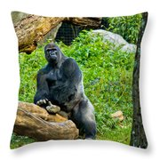 Gorilla Throw Pillow