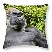 Gorilla Look Throw Pillow