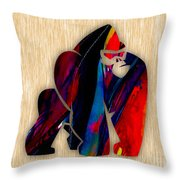 Gorilla Painting Throw Pillow